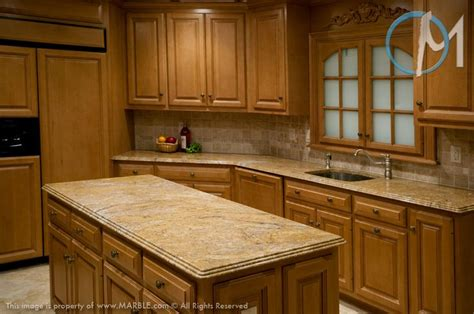 Kitchen Cabinets And Backsplash The Granite Featured Is Golden Valley The Ornate