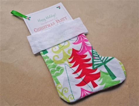 diy christmas party invitation stocking template