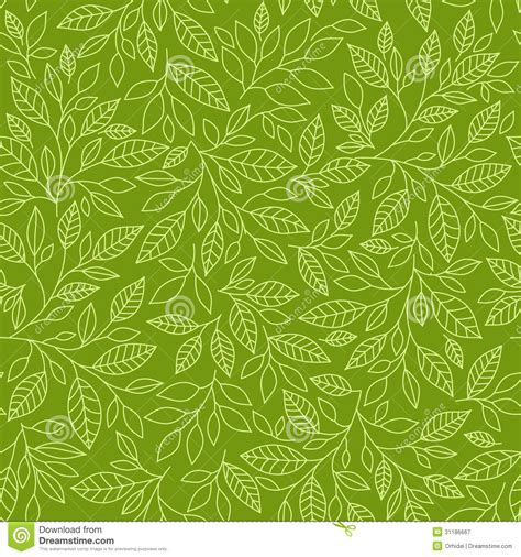seamless pattern leaves seamless pattern with stylized leaves royalty free stock