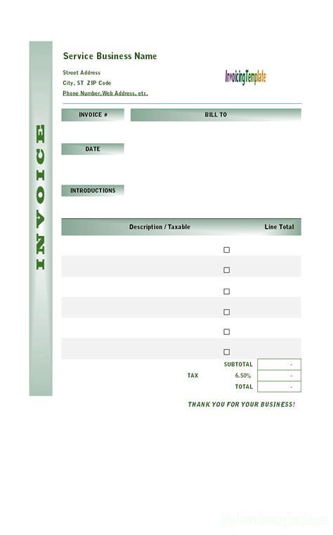 Labor Invoicing Sle Service Template