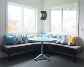 diy upholstered built in bench part 2 teal and lime by