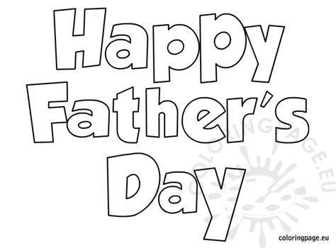happy fathers day 2 coloring page