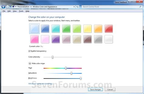 window colors cant change taskbar background windows 7 help forums