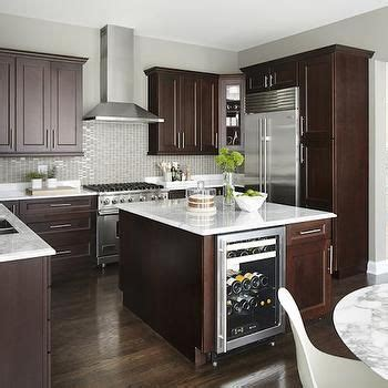 kitchen island  wine cooler contemporary kitchen