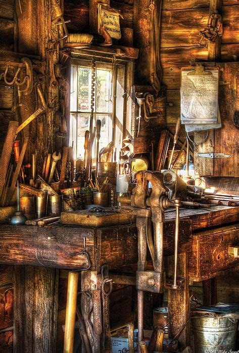 handyman messy workbench photo  mike savad