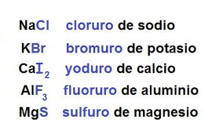 cuales son las sales neutras quimica sales binarias