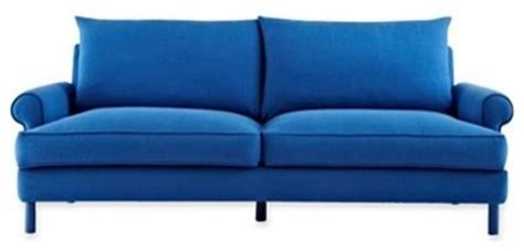 design by conran sofa design by conran 84 inch sofa cobalt blue modern