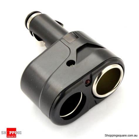 12v in car charger dc 12v 2 port car charger socket splitter adapter