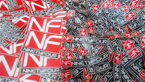Kaos Free Sticker ninetyfour t shirt