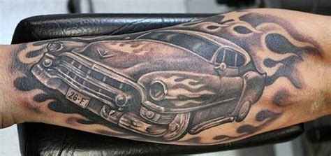 tattoo hot rod flames car tattoo images designs