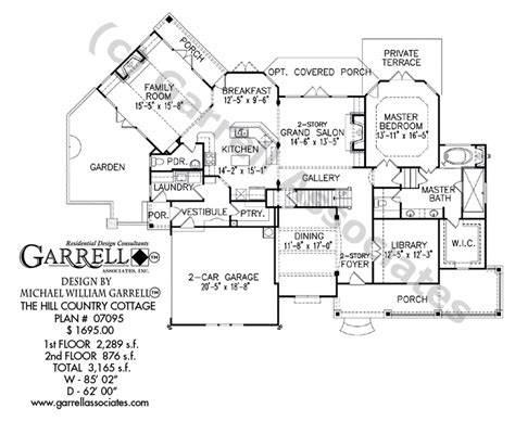 hill country floor plans hill country cottage house plan house plans by garrell