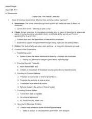 Ap Government Chapter 14 Outline by Jonathan High School Course