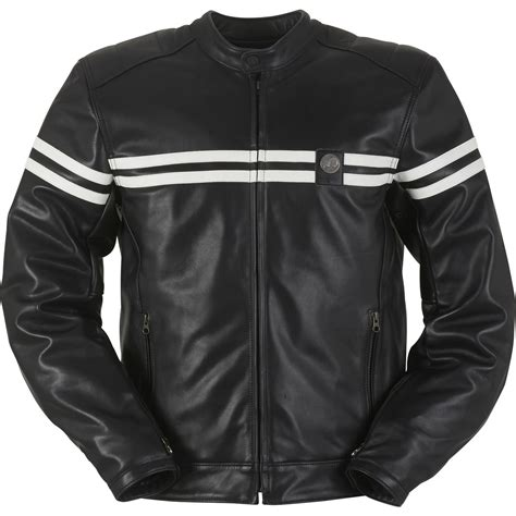 black motorcycle jacket mens furygan gto leather motorcycle jacket waterproof ce armour