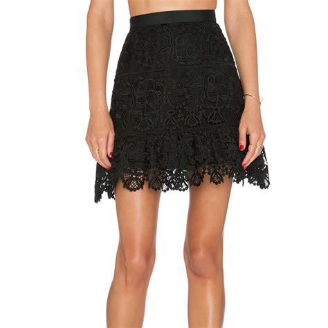 fashion floral patten lace skater skirt