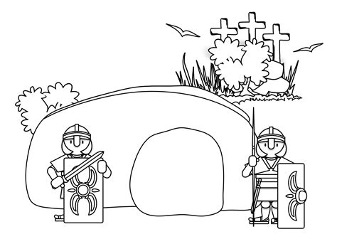 coloring page jesus tomb jesus tomb coloring pages