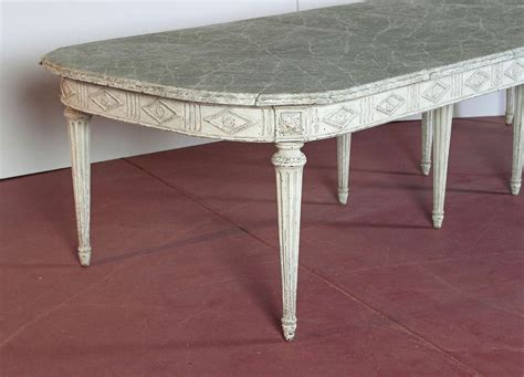 hand painted french dining table with leaves for sale at large antique 19th century french louis xvi painted dining