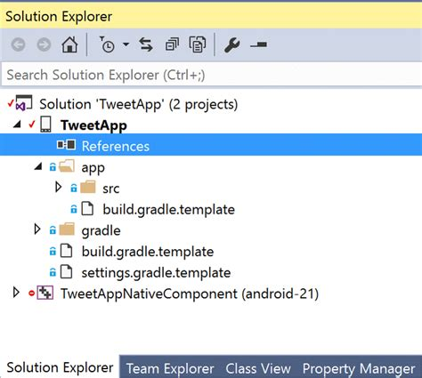 gradle project template build your android applications in visual studio using