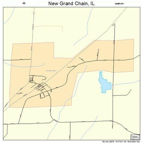 grand il map new grand chain illinois map 1752467