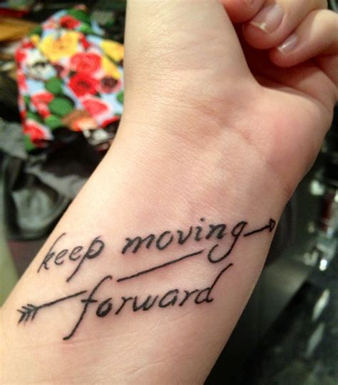 moving forward tattoos my newest i it it helps to remind me