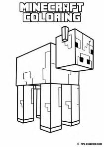 minecraft cow coloring page gallery