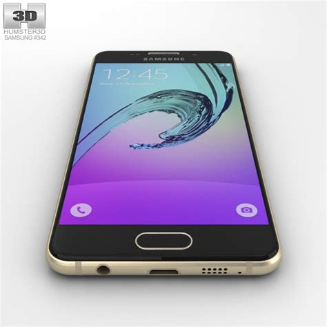 Samsung A3 New Gold samsung galaxy a3 2016 gold 3d model humster3d