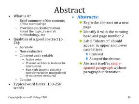 Examples Of Abstracts For Research Papers Gallery For Gt Abstract Examples Apa