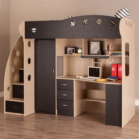 Loft Bunk Bed With Desk Underneath Why We To Apply Loft Bed For Small Bedroom Atzine