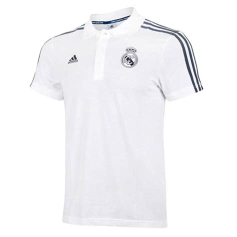 s adidas t shirt real madrid fc 3s polo white