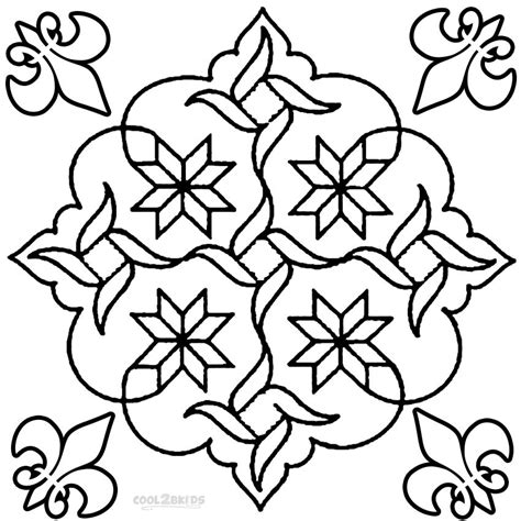 free rangoli pattern coloring pages