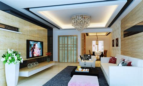 living room wall design marble tv wall design rendering for elegant living room