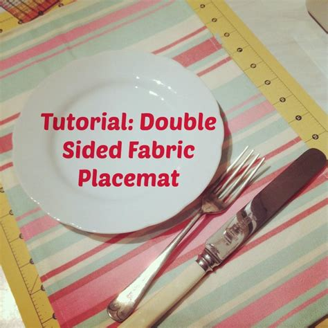 How To Make A Picture Mat by How To Make A Fabric Placemat Fuss Free Flavours