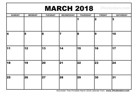 printable calendar for march 2018 march 2018 calendar printable