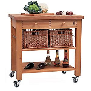 Butchers Block Trolley With Drawers by Eddingtons Two Drawer Lambourn Trolley With Solid Beech