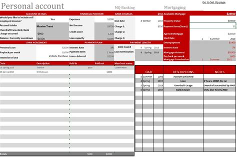 Banking Spreadsheet by Mod The Sims Updated Dec 2017 Personal Record Sim