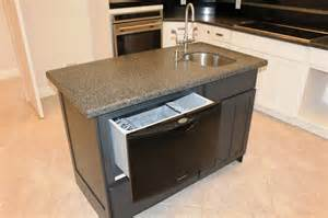 Kitchen Islands With Dishwasher Incomparable Kitchen Island Sink Ideas With Undercounter Dishwasher Also Handle Kitchen