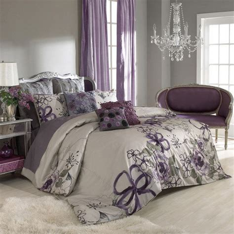 grey purple bedroom best 25 purple bedding sets ideas on