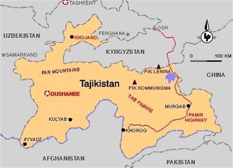 map of tajikistan images tajikistan map of tajikistan 8649