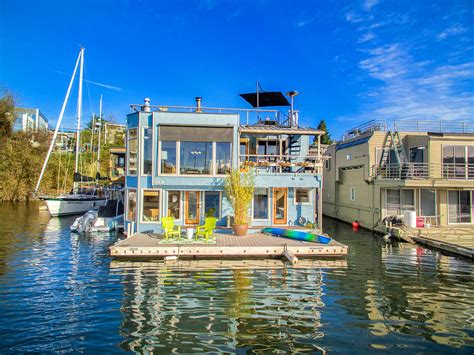 lake union houseboat for sale houseboat on seattle s lake union coastal living