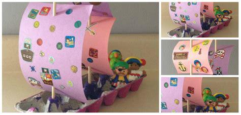 un barco hecho con material reciclable barco pirata cartones huevos collage imagenes educativas
