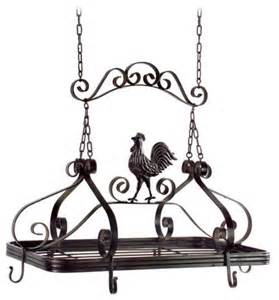 rooster hanging kitchen pot rack farmhouse pot racks