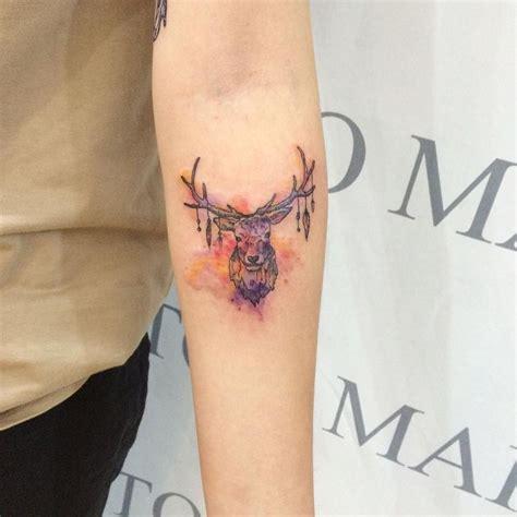 korean tattoo pen 사슴타투 deer watercolor 수채화타투 수채화 illust tattoo