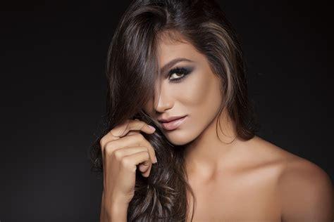 jk morgan hair designs charlotte nc driely benetton simple background face women bare