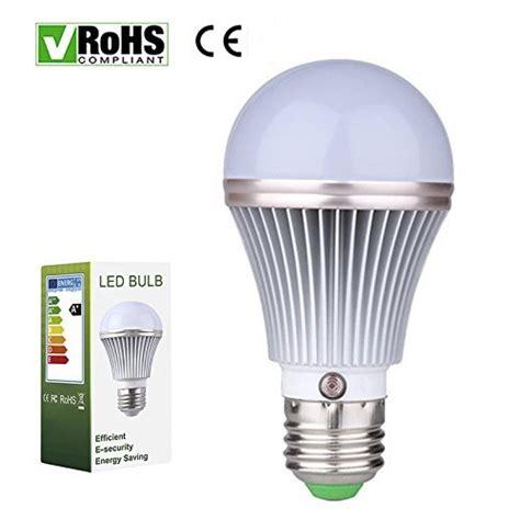 E27 5w Led Dusk To Dawn Sensor Light Bulbs Aluminum Dusk To Led Light Bulb