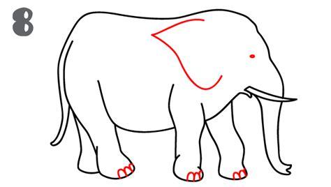 how to draw a doodle elephant elephant