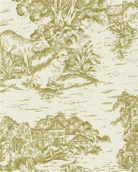 Provincial Upholstery Fabric by Toile Traditional Colonial Provincial Print Heavy