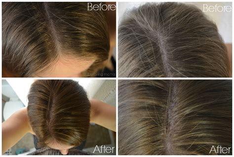 coloring gray hair before and after pering myself with madison reed natural hair color