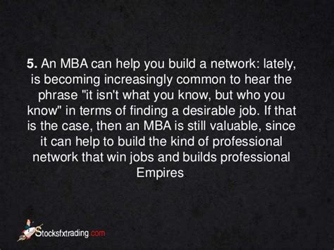 How Mba Helps In Networking by Mba 5 Reasons To A Degree