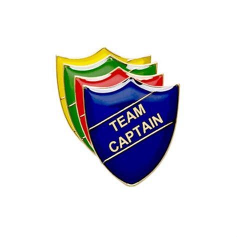a pint of captain team captain pin badge shield enamel pin badge