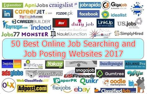 jobs sites 50 best online job searching and job posting websites 2017