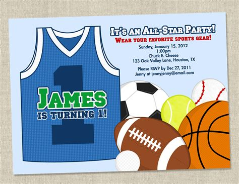 sports themed birthday invitations sports themed birthday party invitations dolanpedia